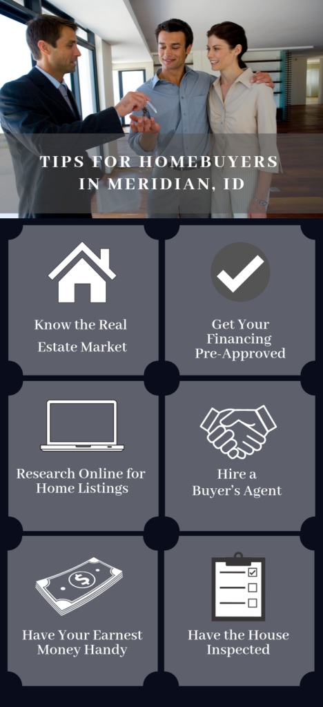 Infographic Showing Tips for Homebuyers in Meridian Idaho